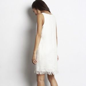 1d5d3fdef8 Dresses - SALE Madison Linen Fringe Dress in White
